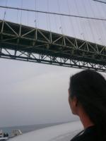 明石大橋。帰ってきましたg村山義光氏