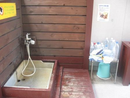 犬の足洗い場