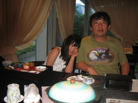 夕飯時みーとパパ