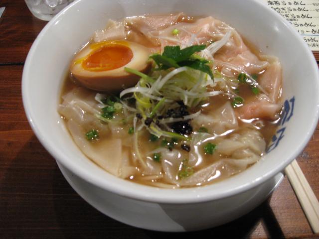 蒼空 福ワンタン麺