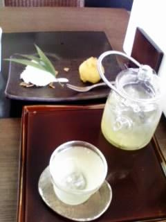 冷茶とスイートポテト