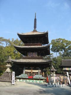 石手寺の三重塔
