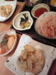 かきの天ぷら五穀定食