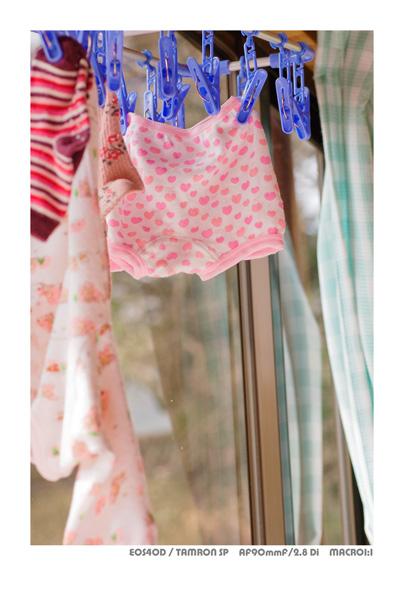 EOS40Dで撮影した娘のパンツ