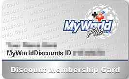 MyWorldDiscounts membership card修正
