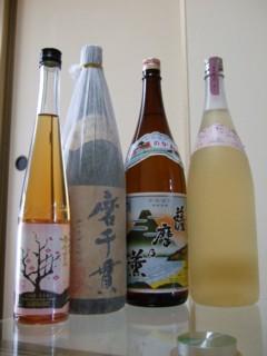 鳳凰美田梅酒、磨千貫、薩摩乃薫、てぃあら