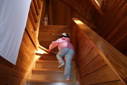 ログ2階へ