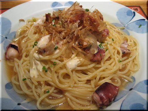 鎌倉パスタ(やりいかと蛸のマヨネーズ風味の和風ソース)