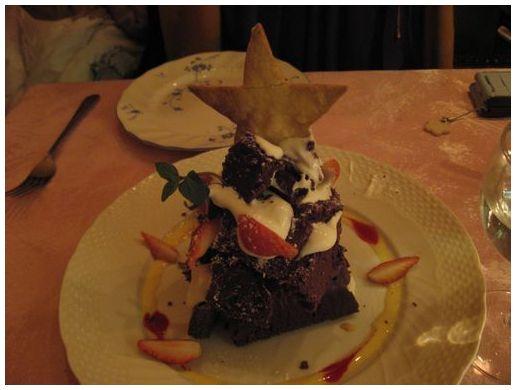 チョコレートケーキ クリスマス仕立て