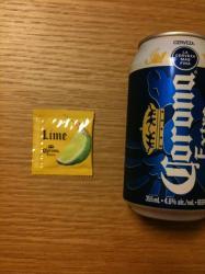コロナ缶+ライム汁