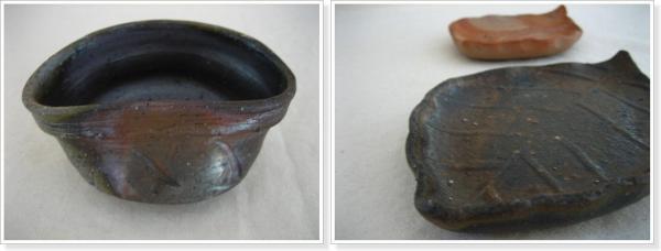 抹茶碗・木の葉皿
