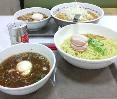 和風つけめん&坦々麺牛すき焼き丼セット