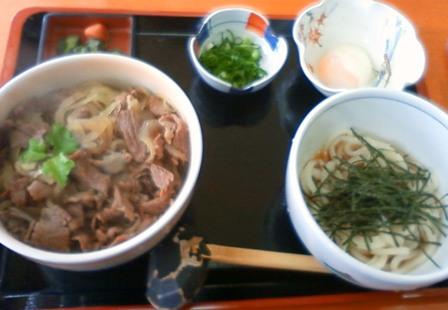 牛丼セット@鳴門