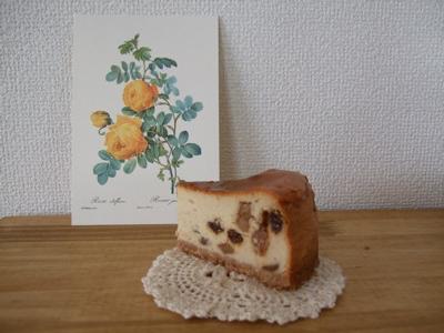 アップルスパイスチーズケーキ