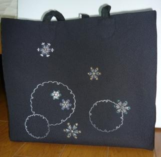 日本刺繍トート完成