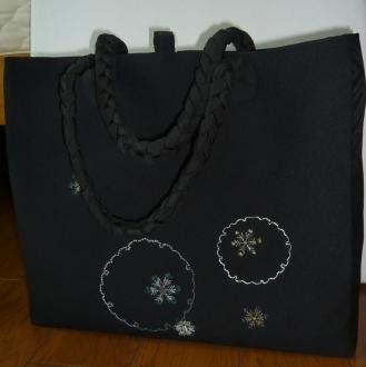 日本刺繍トート完成2