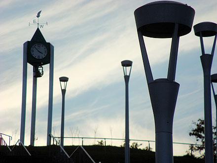 街灯と時計
