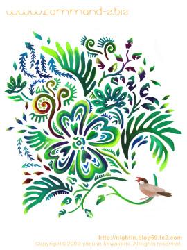 イラスト 植物 文鳥