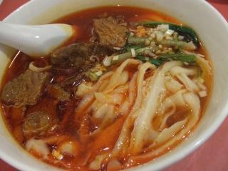 『四川料理 京華楼』 牛バラ肉刀削麺