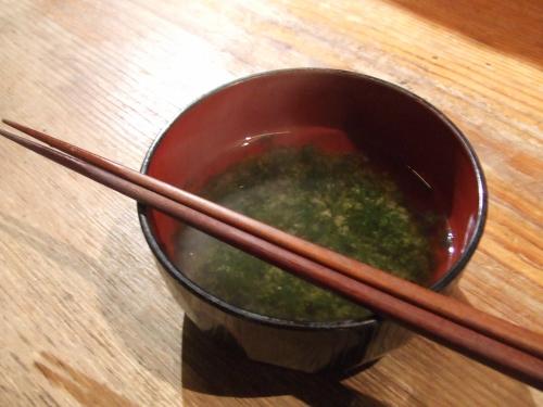 地魚炙り焼と和酒 おけやの鈴太郎 青海苔のみそ汁