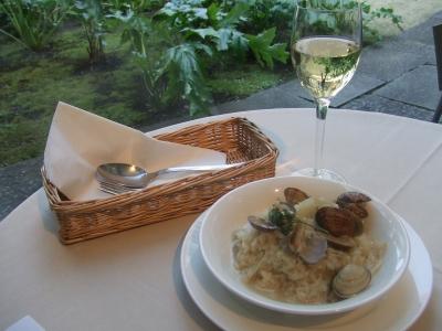 カフェ ダール 活アサリとアンデーブのジンジャー風味リゾット