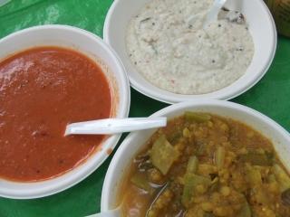 南インド料理~トマト・チャットニー/ココナッツ・チャットニー/サンバー