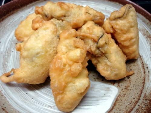牡蠣の広東風天ぷら