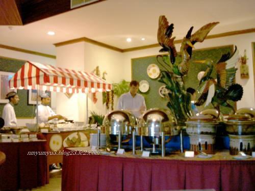 フルレアイランドホテルの朝食ビュッフェ