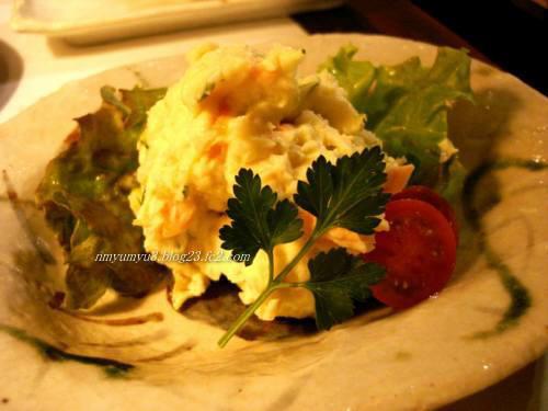 焼き貝柱のポテトサラダ