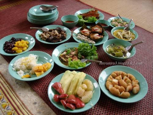 法事で振舞われたタイの家庭料理