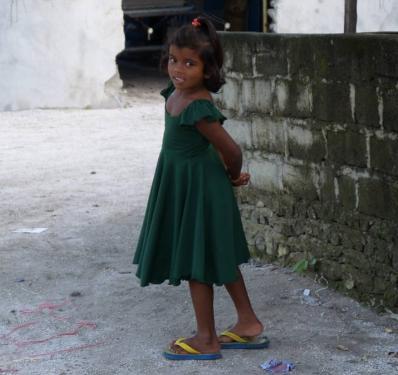 モルディブの女の子