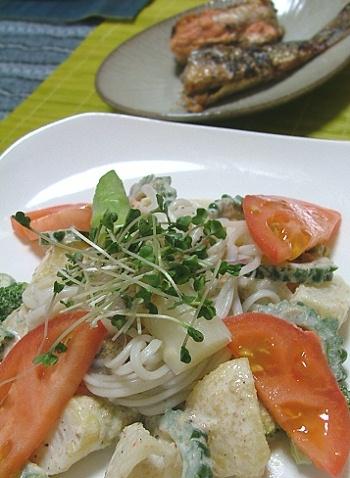 温野菜サラダ麺