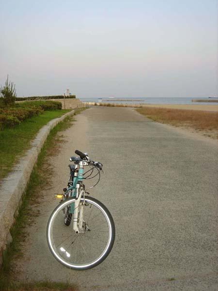 須磨+自転車
