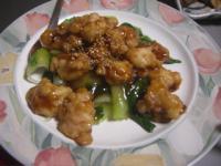 鶏あんかけ青梗菜