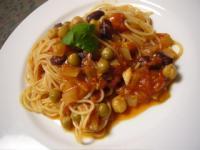 豆豆トマトパスタ