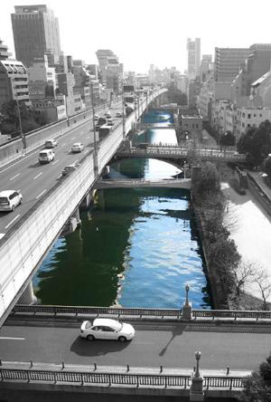 東横堀川鳥瞰