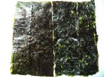 左が秋芽で右が冷凍網だね