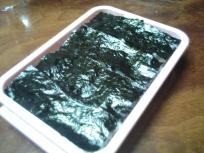 美味しい熊本海苔の海苔弁