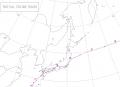 1954年台風5号経路図
