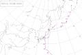 1962年台風14号経路図
