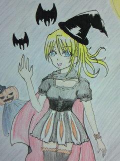 happy halloweenアップ