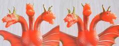 キングギドラ 出現バージョン(羽沢組):その1(3D・平行法対応)