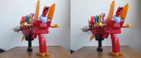DXゴーカイガレオンバスター:後方より(3D)