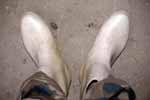 長靴を履いた管理人。