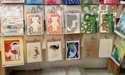 第6回チャリティーポストカード展 展示風景4