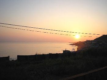 そして、今日の静かな夕日