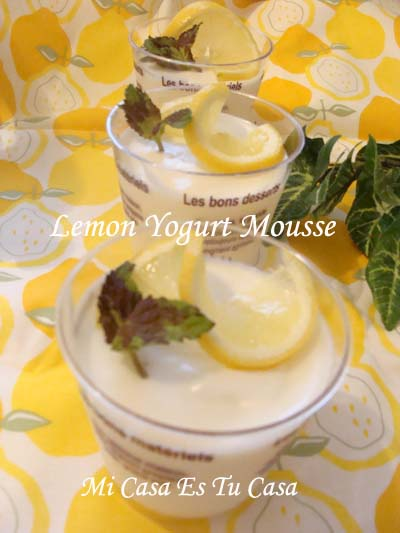 Lemon Yogurt Mousse