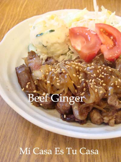 Beef Ginger