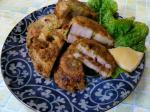レンコンと納豆の揚げ物