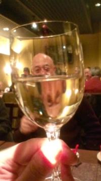 グラスの向こうにヅルさん